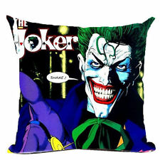The Joker Cartoon Image Batman Linen Square Pillow Cushion Cover.
