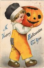 HALLOWEEN POSTCARD, ELLEN CLAPSADDLE, SERIES 1 PUBLISHED BY WOLF & Co.