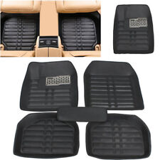 5Pcs Auto Car Front & Rear Floor Mats Pad Waterproof Liner Anti-skid PU Leather