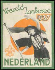 Boy Scouts Netherlands 1937 World Jamboree Cinderella Poster Stamp Label