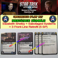 STAR TREK ATTACK WING: RESOURCE RUMBLE OP KIT- Elizabeth + Sabotaged + 3 Front-L