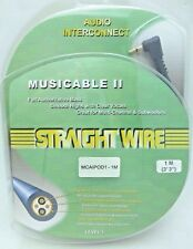 """Straightwire MUSICABLE II 1/8""""3.5mm to dual Male RCA iPod Audio Cable 0.5 Meter"""