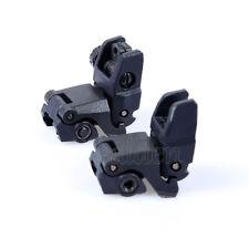 Black HUNTING or TACTICAL Front & Rear Set Flip Up Back Up Sights NEW