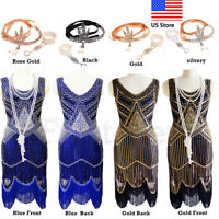1920s Flapper Dress Great Gatsby Gown Prom Party Cocktail Sequin Evening Dresses