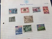 nice Malaysia assortment of stamps on album pages direct from estate untouched