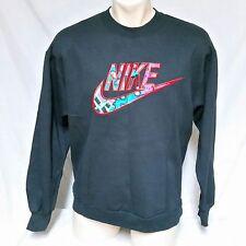 VTG Nike Sweatshirt Grey Tag 50/50 Swoosh 90s Spell Out Jordan Agassi Air Large