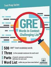 GRE Words in Context Challenging List by Vibrant Publishers Staff (2017,...