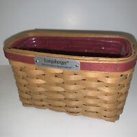 Longaberger 2004 Hostess Appreciation Basket Combo w/ Paprika Liner & Protector