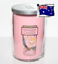 YANKEE CANDLE * Fresh Cut Roses * LARGE 2 WICK TUMBLER  * FLORAL SCENT