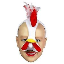 Chicken Face Mask & Sound Animal Easter Chick Fancy Dress Costume Outfit
