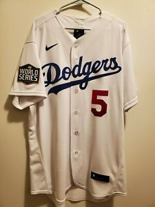 Nike Los Angeles Dodgers Corey Seager 2020 World Series Authentic Jersey Size 48