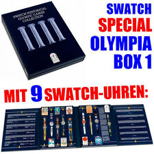 Swatch Olympia Uhren Box Special HISTORIC OLYMPIC GAMES ATLANTA, SZS01, NEU+OVP