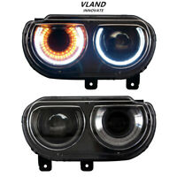 VLAND Projector LED Headlights For Dodge Challenger 2008-2014 Headlight Assembly