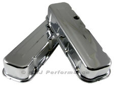 Big Block Chevy 454 Chrome Steel Valve Covers Tall Style - BBC 396 402 427