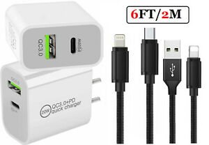 20W USB C Fast Wall Charger PD Power Adapter For iPhone 13/12/11 Pro Max iPads