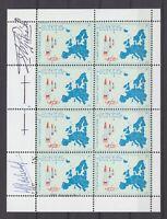 Niederlande - Raketenpost 1962, DRC / EUROPA - kompletter Vignettenkleinbogen !!