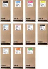 11 x inchiostro ORIGINALE EPSON STYLUS PRO 7900 9900 per 350ml t5961-t5969 cartridge