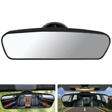Universal Car Wide Flat Interior Rear View Mirror Suction Clip On Windshield x1