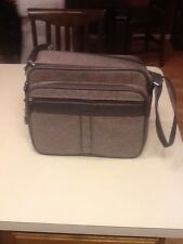 Vintage SAMSONITE SILHOUETTE 4 Carry-On Suitcase Luggage Grey Cloth Good Cond
