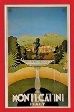 Travel Poster Postcard ~ Montecatini: Italy - Terme: Thermal Spa 1925 - Dalkeith