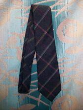 Mervyns Cambridge Classic Plaid Scottish 100% Lambs Wool Neck Tie Charcoal
