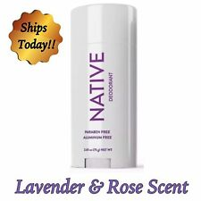 New NATIVE Deodorant Lavender & Rose Aluminum Free and Long Lasting  (1) 2.65 Oz