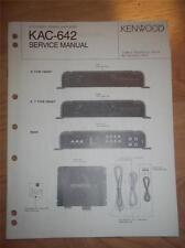 Kenwood Service Manual~KAC-642 Amplifier~Car/Auto~Original Repair Manual