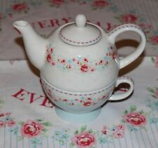 Greengate Tess white Tea for One Set Kanne Tasse NEU