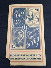 Progressive Quaker City Life Insurance Advertising Booklet with Band Aids