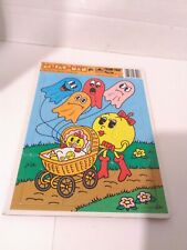 MS. PAC-MAN GOLDEN FRAME-TRAY PUZZLE VINTAGE 1982 AGES 3-7 USA NUMBER 4531B