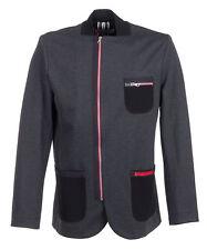 Patternless Blazer Zip Hip Length Coats & Jackets for Women