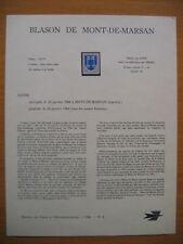 Frankreich Mi 1535 / France Y & T N° 1469 : blason de mont-de-marsan - 1966 -