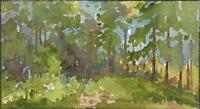 TREES IN LANDSCAPE IMPRESSIONIST Watercolour Painting MARCUS ADAMS c1930