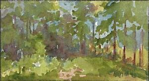 TREES IN LANDSCAPE IMPRESSIONIST Watercolour Painting MARCUS ADAMS c1930
