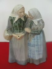 1319  ROYAL COPENHAGEN THE GOSSIPS TWO OLD WOMAN LARGE FIGURINE