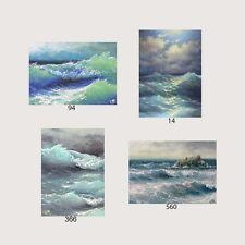 LOT CD is 4 ACEO ART PRINTS NAUTICAL SEASCAPE Ocean Rock Waves Atlantic Storm