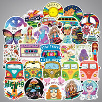 Lot 100 Hippie Laptop Skateboard Stickers Bomb Vinyl Luggage Decals Dope Sticker