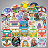 Lot 100 Hippie Vinyl Laptop Skateboard Stickers Bomb Luggage Decals Dope Sticker