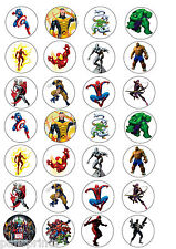 28X EDIBLE CUPCAKE CAKE TOPPERS MARVEL HEROES COMIC