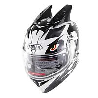 DOT Double Visor Motorbike Modular Helmet Motorcycle Full Face Helmets With Horn