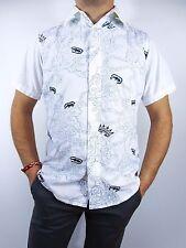 MARC ECKO hommes CREATEUR White Summer Casual en coton à manches courtes shirt SZ M BI27