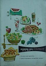 1958 COLDSPOT RERRIGERATOR/FREEZER BOOKLET (SEARS, ROEBUCK & COMPANY