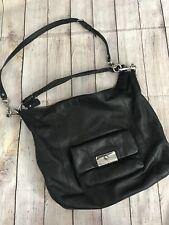 "Coach ""KRISTIN"" Women's Black Leather Slouchy Hobo Shoulder Bag Handbag Purse"