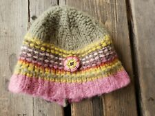 Catimini Colorful Wool Blend Knitted Hat Girls/Toddlers Size 2-3Y