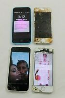 Lot of 4 Apple iPhone 5 C S Untested Parts Only A1456 A1428 A1533 A1532 Power On