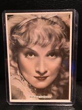 Marlene Dietrich 1935 Ardath Cigarette Card Movie Star Poster Vintage Hollywood