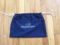New Vineyard Vines Whale Navy Drawstring Cloth Gift Bag