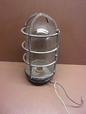 """Vintage KENWORTH Explosion Proof Cage Light 10"""" Long by 5 1/4"""" Diam. Industrial"""