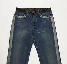 Seal kay jeans donna W29 tg 42 43 gamba dritta usati vintage blu strappi T1543