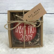 Rae Dunn Red Christmas Ornament Babys First 2019  NEW in BOX